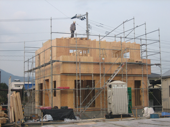 N様邸 建て方Ⅱ